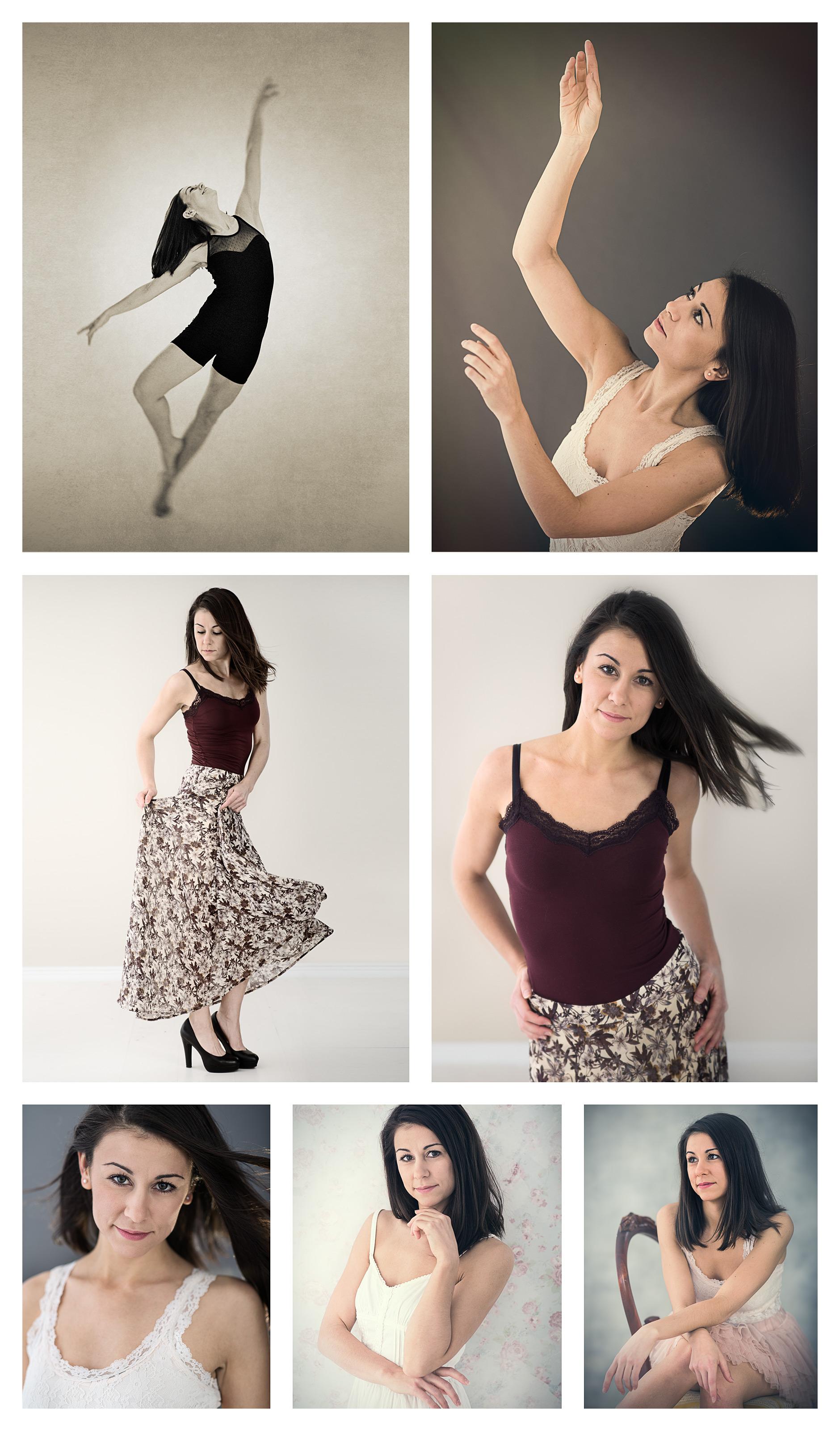 7 bilder på kvinna som dansar