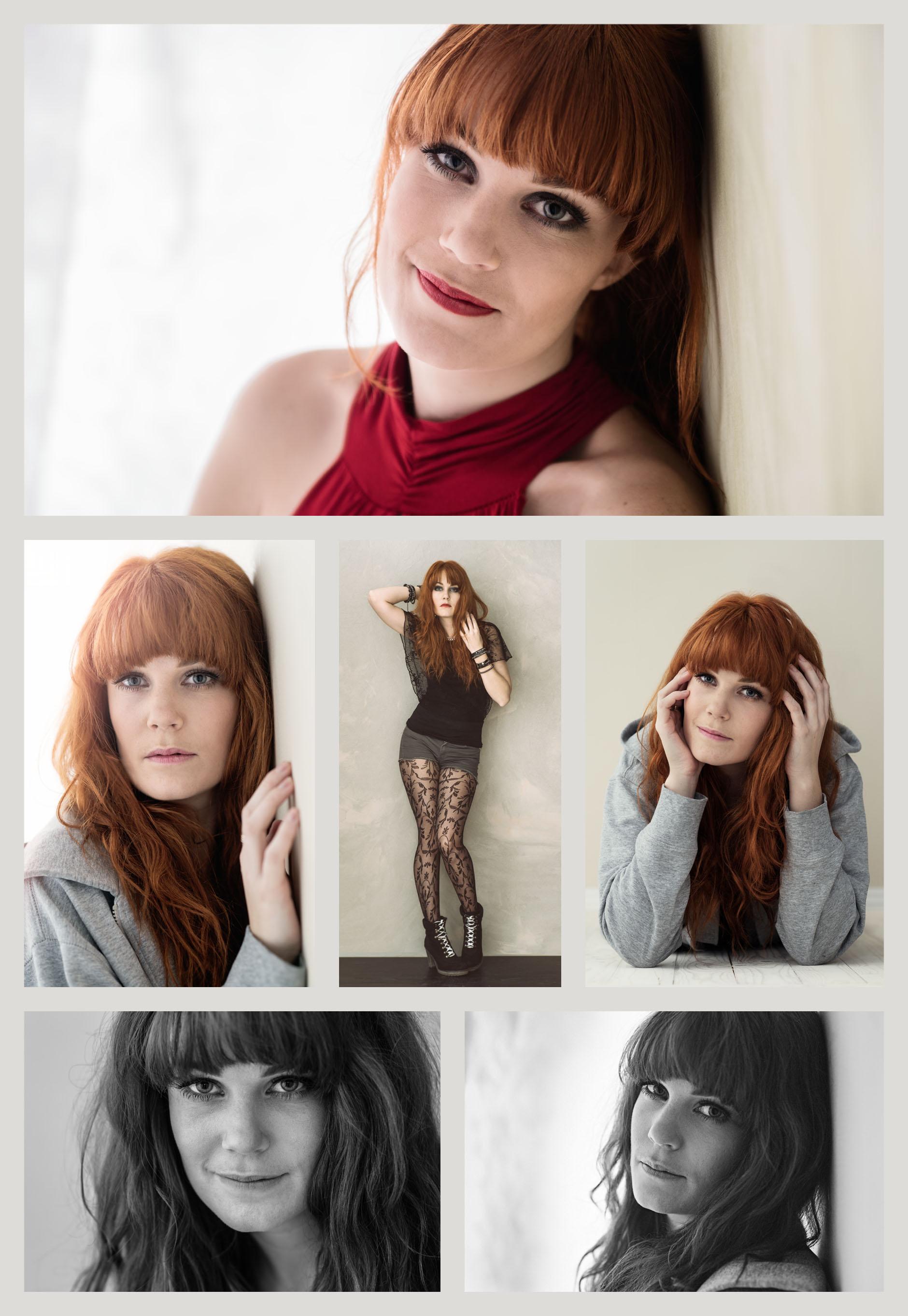 6 bilder på kvinna